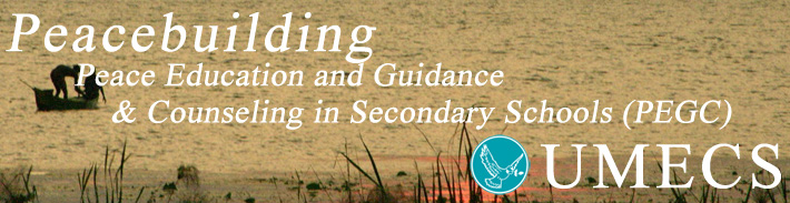 banner PeaceEducationandGuidancePEGC Peace Education and Guidance & Counseling in Secondary Schools (PEGC)