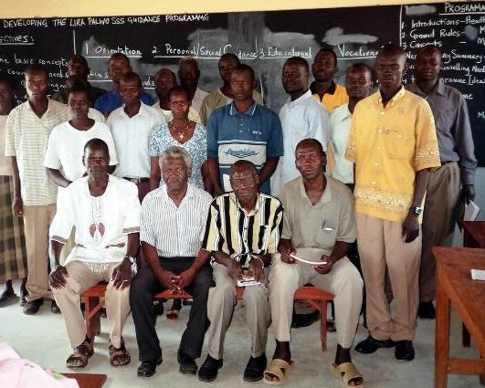 John Mapfumo with trained teachers at LPSS 531x425 Box Page